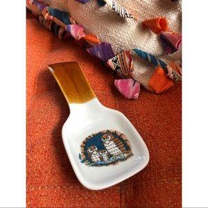 Vtg Owl Spoon Rest